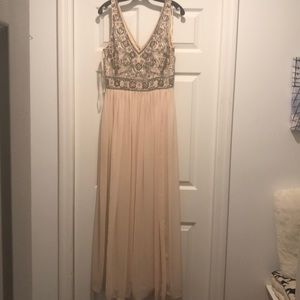 Anthropologie sequined maxi dress size 8